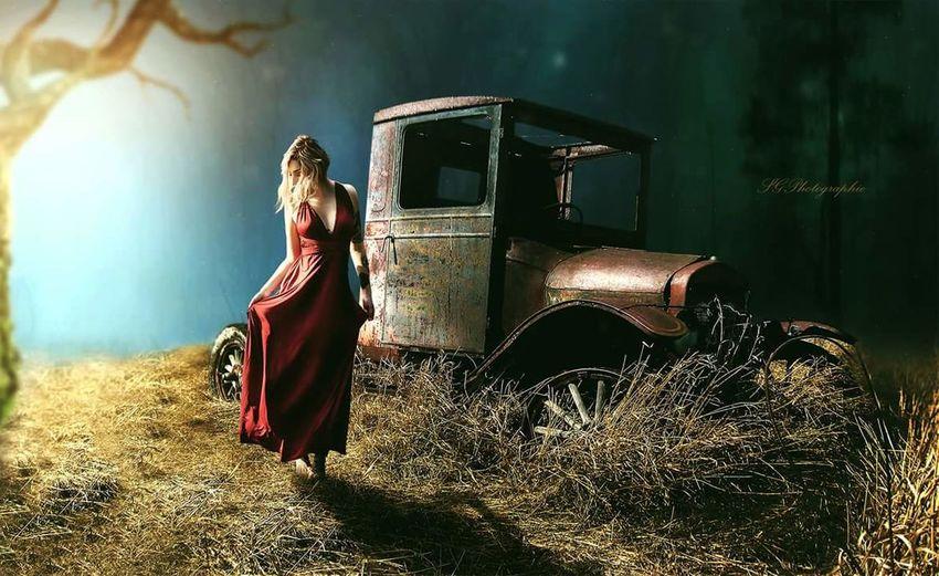 Blendingphotos Photoshopmanipulation ArtWork Photocomposition Full Length Posing Agricultural Field