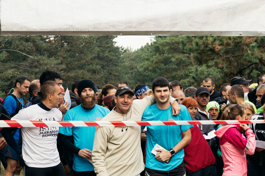 Activity Large Group Of People Marathon Men Race Running Sport Standing Starting Line Togetherness Young People