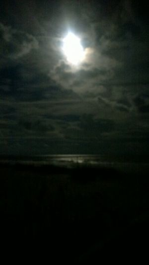 Beauty In Nature Cloud Cloud - Sky Cloudy Moody Sky Moon Moonlight Moonlightscape Nightimephotography Nignt Ocean Outdoors Sky