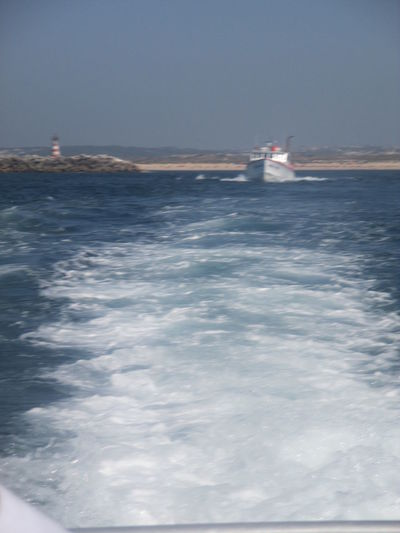 Atlantic Ocean Beauty In Nature Day Fascinating Sea Fascinating Waves Force Of The Sea Inspiration Beside The Sea Mylovelyocean Nature Nautical Vessel No People Outdoors Powerful Sea Romantic Seascape Sailing Scenics Sea Seawavesocean Sky Summertime In Portugal Tranquility Transportation Vitality Of Water Water Waterfront