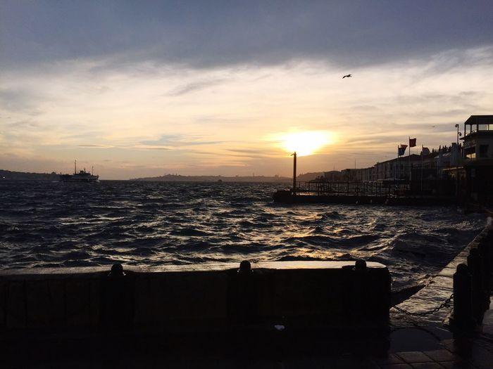 Istanbul Turkey Bosphorus Sea And Sky Sea Sun