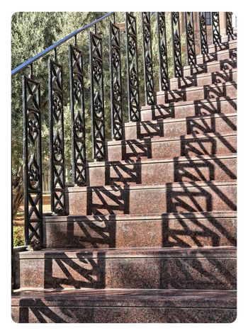 Steps Transfer Print Architecture Sunlight Day Staircase No People Steps And Staircases Railing Pattern Shadow Repetition