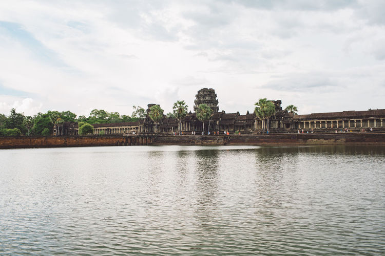 Siem Reap Cambodia Angkor Angkor Wat Angkor Wat, Cambodia Water Sky Architecture Built Structure Cloud - Sky Building Exterior Waterfront Nature River Day Building Plant Travel Destinations No People Tree History City The Past