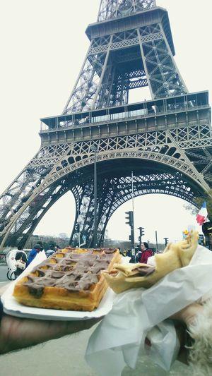 Paris France 🇫🇷 Eiffel Tower Waffle Crep CityOfLights  Feel The Journey Worldtraveler