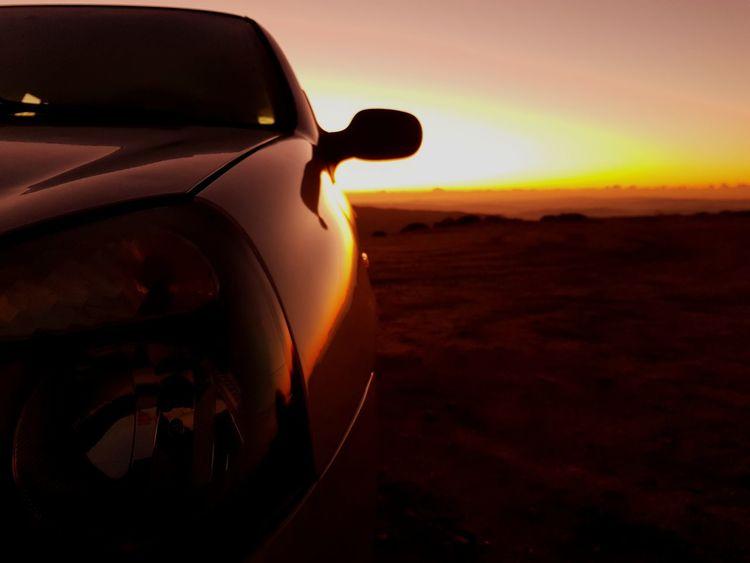 Car Sunset Landscape No People Transportation Nature Desert Outdoors Close-up Sky