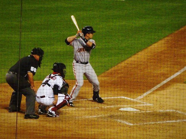 Arizona vs San Francisco, Buster Posey at the plate. Baseball San Francisco Giants Buster Posey Batting Home Plate