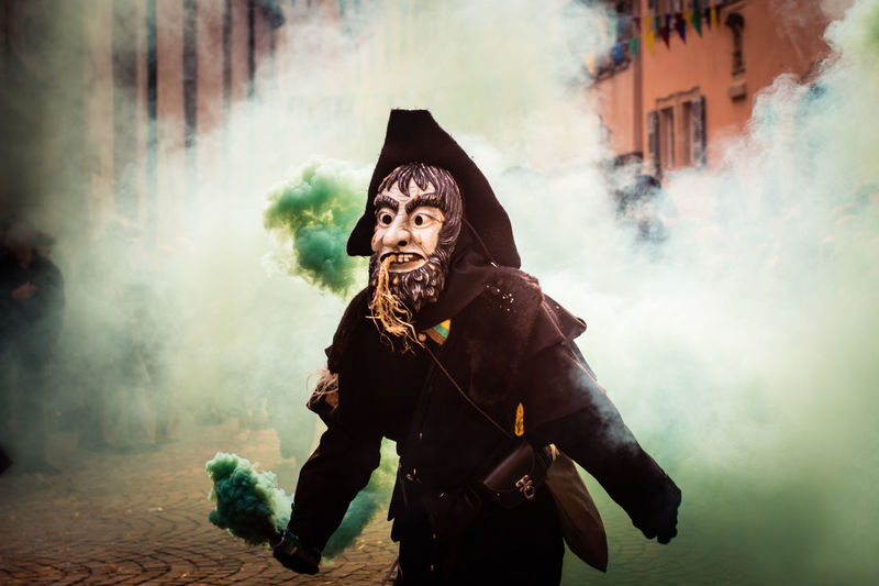 Carnival, Rottenburg am Neckar, Germany Carnival Costume Full Frame Germany Mask One Person Outdoors Parade Smoke Street Traditional Unrecognizable Person Carnival Crowds And Details