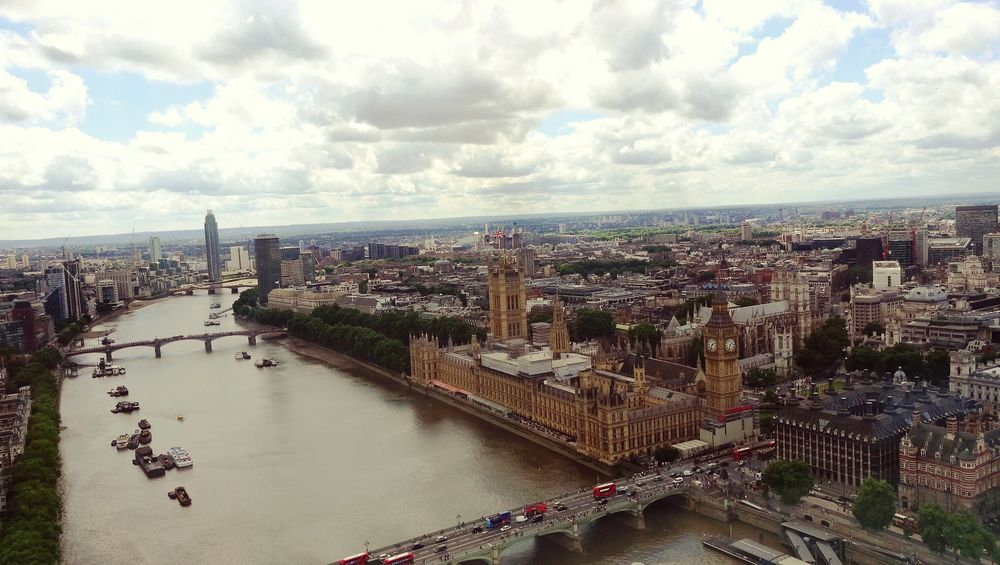 London LondonEye Big Ben High Angle View City Sky Cloud - Sky Water River Day Architecture England 🇬🇧
