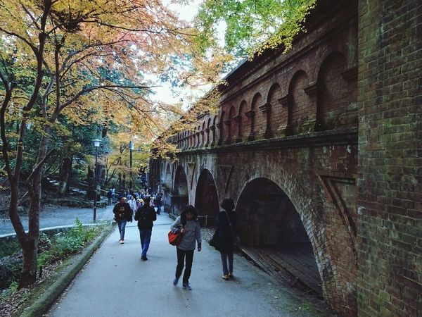 Architecture Built Structure Arch Brick Building Brick Real People People Outdoors Day From My Point Of View 南禅寺水路閣 Japan Photography Kyoto Autumn Kyoto, Japan