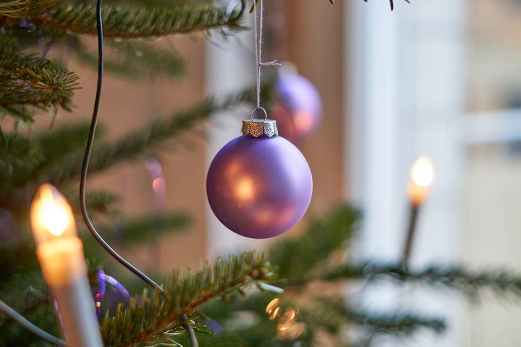 Bauble Celebration Christmas Christmas Decoration Christmas Ornament Christmas Tree Close-up Day Focus On Foreground Hanging Holiday - Event Indoors  No People Tree