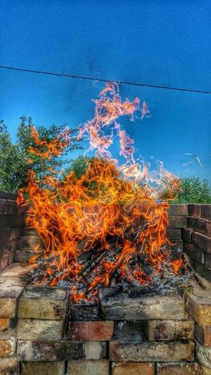 Fireworks Fire Fireplace Hot Day Nature Photography Nature_collection Colours Iphone 5 North Of Spain Barbecue