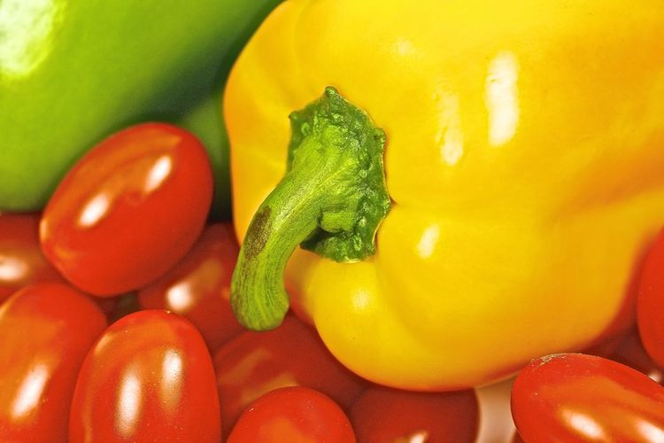 Close-up of colorful vegetables
