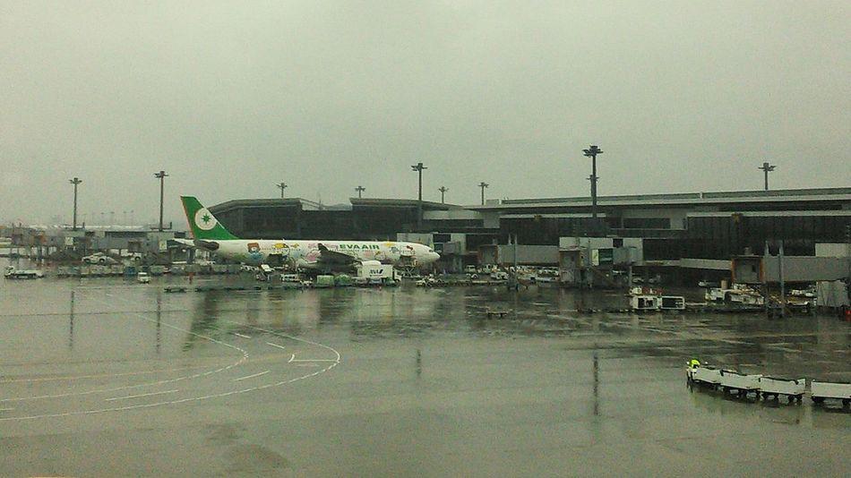 Airport Eva Airline Rainy Day Trip Departing
