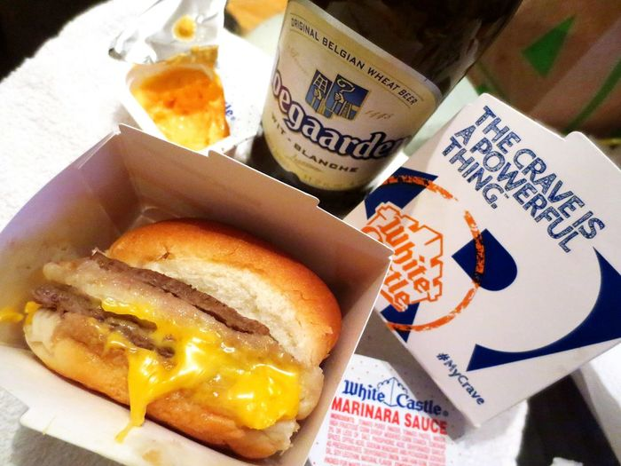 WhiteCastle and Hoegaarden Beer Nightcap