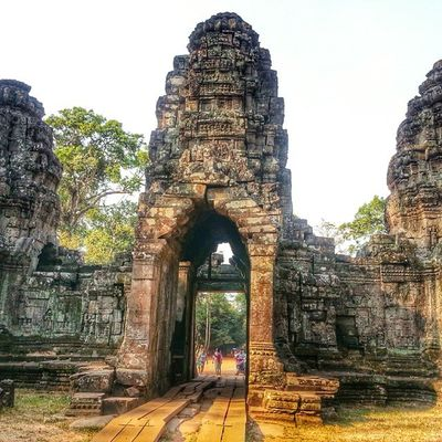Preah Khan, for the beguiler, the rimancer, and the artist is an entrancing mastery deep in the jungle, soft and alluring in the twilight made by heavy verdure. - excerpt from the Cambodia Official Destination Guide. Worldheritage Unescoworldheritagesite Siemreap Cambodia Heritage Wanderkat