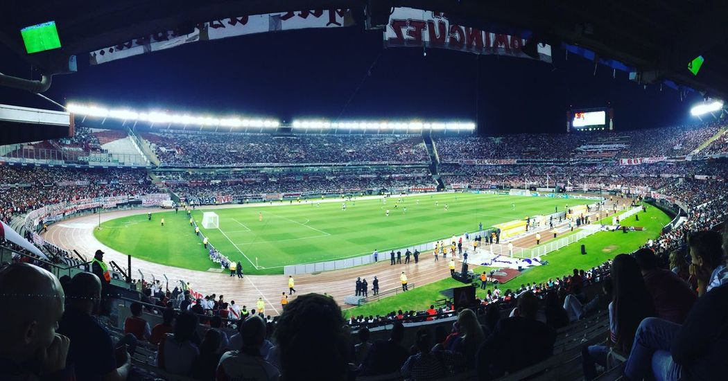 River Plate vs Chapecoençe Stadium Sports Team Soccer Audience Spectator Fan - Enthusiast Team Sport Outdoors Crowd Event Grass River Plate Chapecoense Football Game Football
