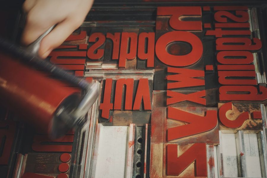 Red ink | Ink Red Getting Inspired Hands At Work Old Job  Wood Type Abstract Textures And Surfaces Your Design Story Close-up Letterpress Printing Still Life Tipoteca Italiana EyeEm Italy | EyeEm X Lexus - Your Design Story