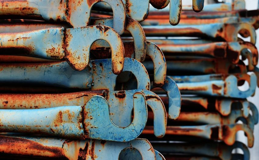 Abstract Copy Space Copy Space Copyspace Industry Industrial Steel Rusty Rustic Rust Blue Equipment Scaffolding Old Aged Backgrounds Background Metal Rusty Close-up Weathered Outdoors Full Frame Backgrounds