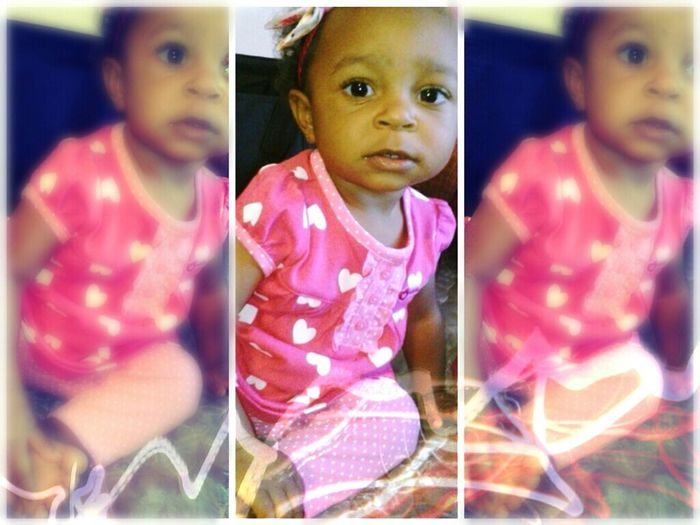 my beautiful daughter on her first valentines day(: