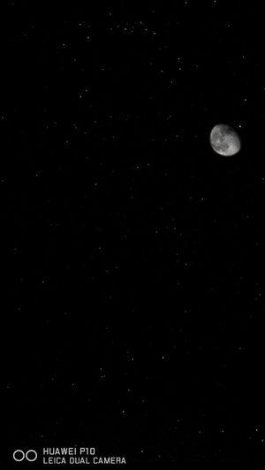 Full moon in sky at night