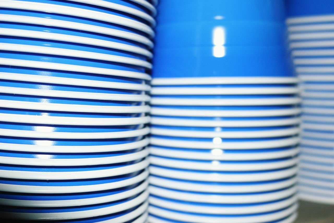 striped, blue, indoors, close-up, no people, pattern, day