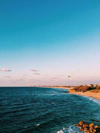EyeEm Selects Sea Beauty In Nature Water Horizon Over Water Scenics Tranquil Scene Nature Tranquility Blue Outdoors Idyllic No People Beach Clear Sky Sky Day