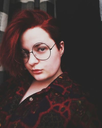 #folowforfolow #glasses  #haircut Harrypotter Adult One Woman Only Adults Only Looking At Camera Young Adult Headshot Redhead Red Young Women Human Face Beautiful Woman First Eyeem Photo