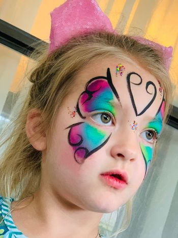 Audrey with face-paint from weekend festival in natural light #shotwithiphoneXSmax Grandchildren Are Lifes Blessing Grandchild Portrait Art And Craft Creativity Multi Colored One Person Paint Headshot Young Adult Face Paint Human Face