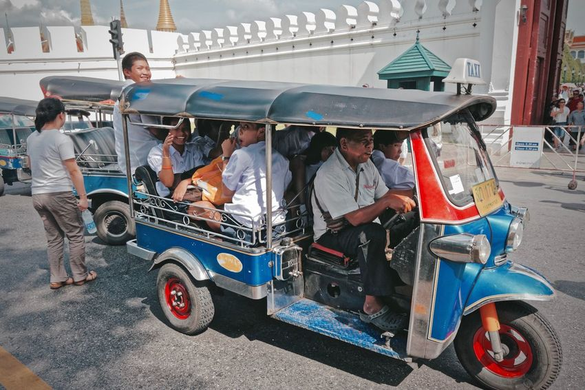 Fast & Furious 9 Bangkok Casual Clothing City Life Day Funny Moments Leisure Activity Lifestyles Multi Colored Outdoors Stationary Streetphotography Thailand The Street Photographer - 2016 EyeEm Awards Tuk Tuk Bangkok Dangerous The Great Outdoors With Adobe