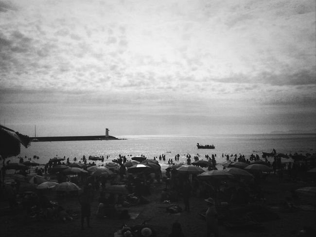 Streetphotography Beach Blackandwhite Enjoying The Sun Umbrella Barranco KCe
