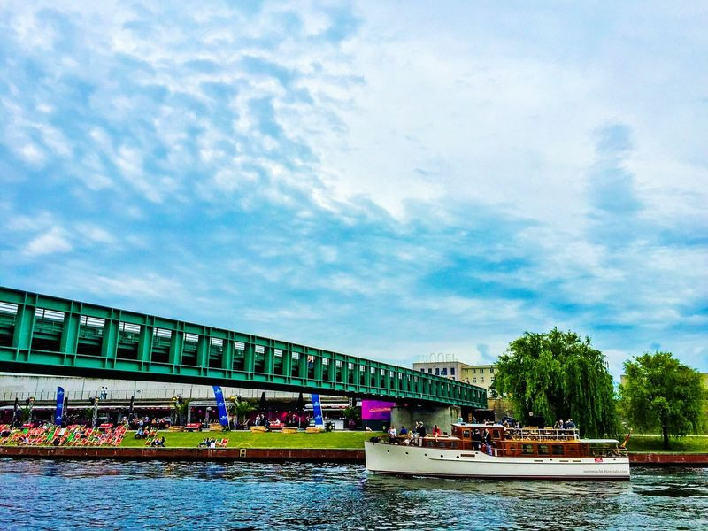 Clouds And Sky Sky And Clouds Boat In Water Berlin Photography Spree River Berlin Spree Riverside Spree River Berlin Berliner Ansichten Bridge View Bridgeporn Main Station Berlin