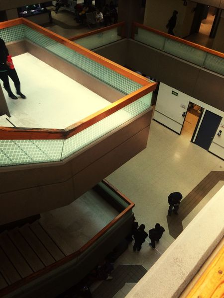 High Angle View Indoors  Steps Architecture Staircase No People Day Clinical