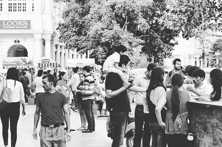 """""""Father <3 """" Parents Love Kids Family Street Streetphotography Blackandwhite B &w Cp ConnaughtPlace Delhi India Photo Photograhylovers Travelphotography Travel Clicks Loveshot"""