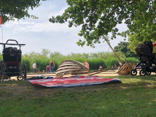 IPhone X IPhone X Photography Volkspark Potsdam Wasserspielplatz Potsdam Plant Tree Nature Sky Grass Day Park Growth Park - Man Made Space Land Absence Green Color Field Multi Colored Outdoors Transportation Mode Of Transportation Cloud - Sky No People Sunlight