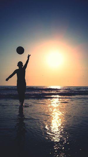 Sunset Silhouettes Silhouette Beach Beach Silhouettes