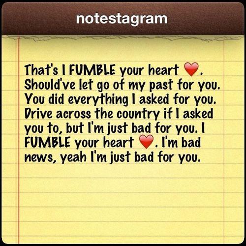 FUMBLE :)❤