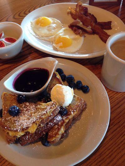Blueberries n' Lemon Stuffed French Toast Breakfast Food Breakfast