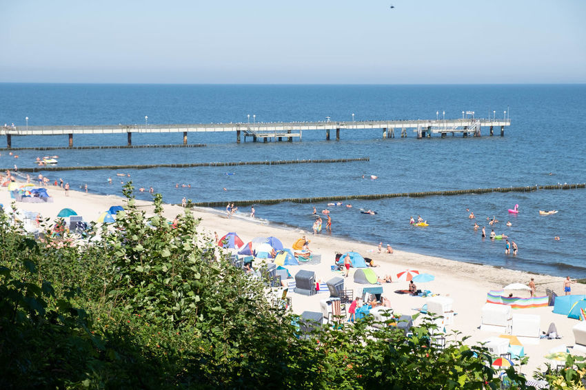 Usedom, Germany Beach Beauty In Nature Crowd Day Enjoyment Group Of People High Angle View Holiday Horizon Horizon Over Water Koserow Land Large Group Of People Leisure Activity Nature Outdoors Plant Sea Sky Usedom Vacations Water