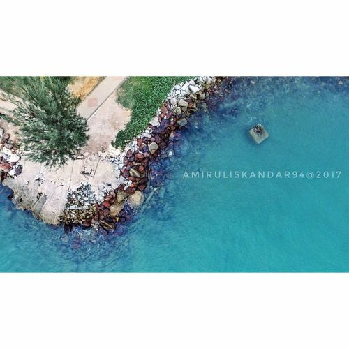 Top down view at Port Dickson Day High Angle View Outdoors Sea Nature Landscape Photography Dji Cinematic Shots Phantom 3 Fly The Week On EyeEm