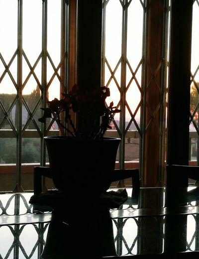 Indoors  Silhouette Sky Sunset Inside Inside Looking Out Inside Sunset Close-up Locking Locking The Door