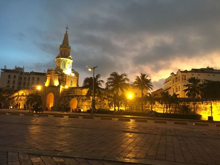 Architecture Architecture Building Exterior Built Structure Cloud - Sky Travel Destinations Outdoors Sky Night Sunset No People City Illuminated Clock Tower Water Nature