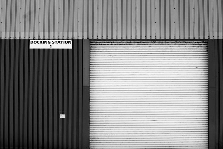 Architecture Backgrounds Blackandwhite Built Structure Corrugated Corrugated Iron Day Metal No People Outdoors Pattern Photography Text