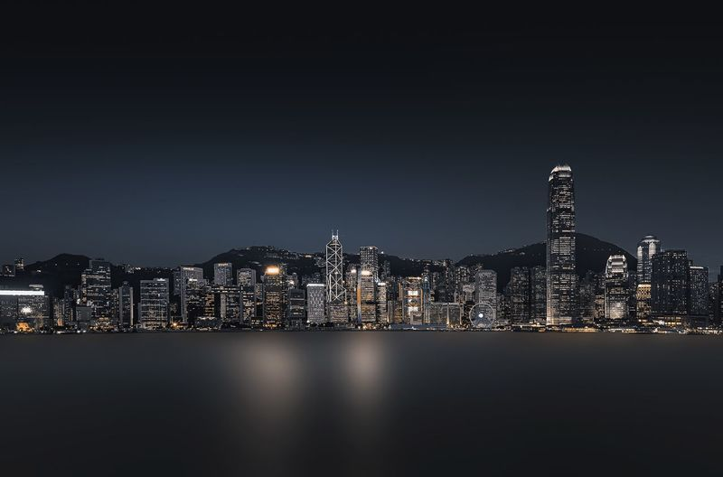 Night HongKong EyeEm Selects Building Exterior Architecture Built Structure City Night Illuminated Building Cityscape Clear Sky Lighting Equipment Light Sky