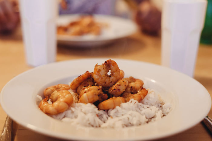 Basmati Rice Rice Seafood Shrimp Shrimps Food Food And Drink Foodporn Freshness Honey Honey Glazed Plate