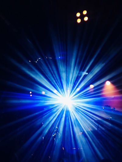 Blinded By The Light Concert Spotlight Illuminated Night Lighting Equipment Blue Arts Culture And Entertainment Light - Natural Phenomenon Light Light Beam No People Stage - Performance Space Stage Light Nightlife