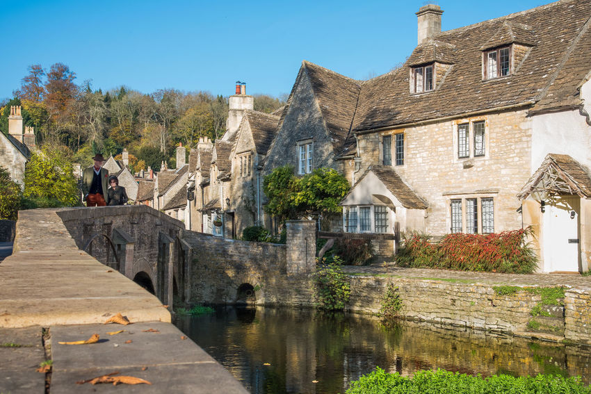 A stroll back in time Architecture Authentic Village Autumn Colors Blue Building Building Exterior Built Structure Canal Canals Castle Combe Day England 🇬🇧 Leisure Activity Lifestyles Outdoors Plant Residential Building Sky Stone House Stone Houses  Strolling Around Town Travel Destinations Village Life Vintage