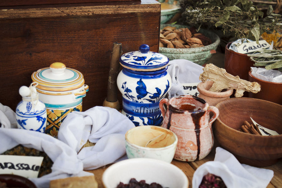 Handmade for You Herbs Table Setting Ceramic Ceramic Art Ceramics Choice Clay Close-up Day Festival Food Food And Drink For Sale Handmade Herbal Medicine Indoors  Large Group Of Objects Medieval No People Pottery Seasoning Spice Spices Table
