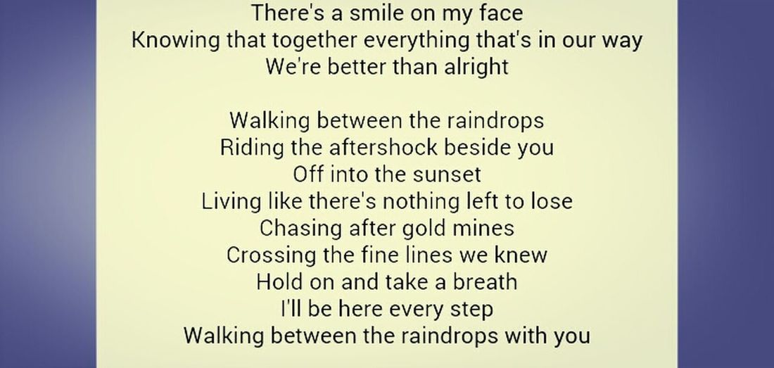 Between The Raindrops --Lifehouse & Natasha Bedingfield <3