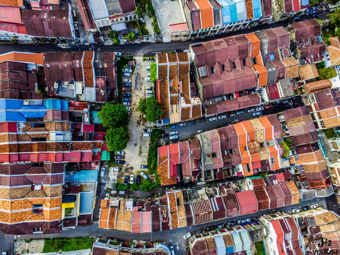 Rainbow Town, Georgetown, Malaysia Aerial View Architecture Choice City Cityscape Day No People Outdoors Postcard Store Travel Destinations Urban Skyline Variation