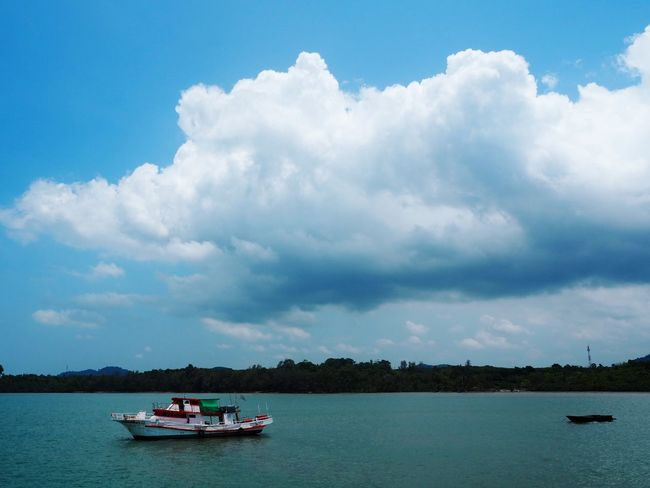 Cloudy sky. Thailand HelloEyeEm High Mountain TRVEL Nautical Vessel Transportation Water Cloud - Sky Mode Of Transportation Sky Travel Sea Nature Environment Tourism Tree Blue Travel Destinations Vacations Trip Holiday Outdoors Craft Ship